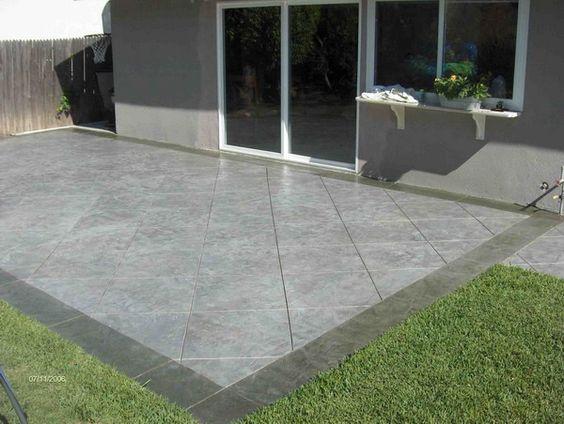 Outdoor Ceramic Patio Design  Tile Over My Cement Patio Instead