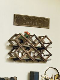 Repurpose an old wood wine rack as display space by ...