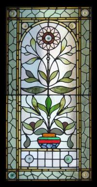 VICTORIAN SUNFLOWER STAINED GLASS WINDOW | Stained Glass ...