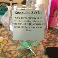 Keepsake advice - cool idea for bridal showers or kitchen ...