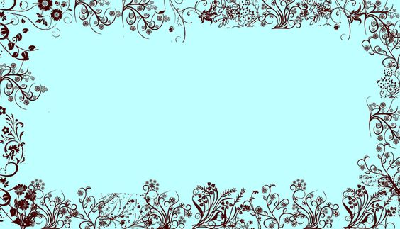 Cute Bordered Pastel Flower Wallpaper Tiffany Blue W Brown Floral Border Wallpaper Background