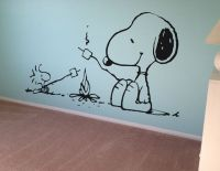 Snoopy Peanuts Wall Decal Vinyl Wall Decor Kids Wall Art