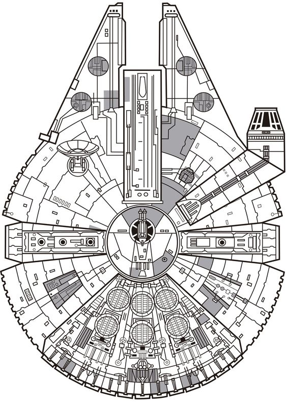 wire schematics of millenium falcon