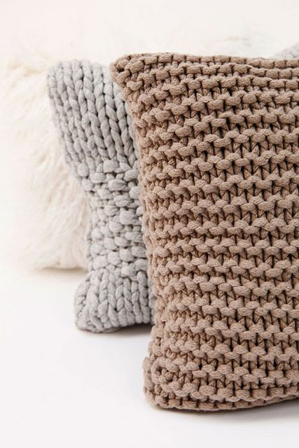 Pillows, Knit pillow and Knits on Pinterest