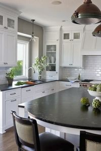 Kitchen Photos Kitchen White Cabinets Subway Tile Gray ...