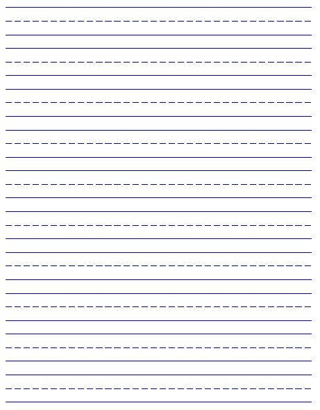 Printable Lined Paper Large Lined Paper 3 Lined Paper School Lined