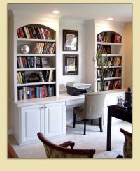 Bookcase and Study Nook | Bookcases and Built-In Desks ...