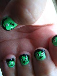 Frankenstein nails. | Nails! | Pinterest | Nails and ...