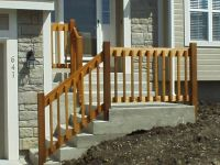 DIY WOODEN PORCH HANDRAIL IDEAS | Wood railing and ...