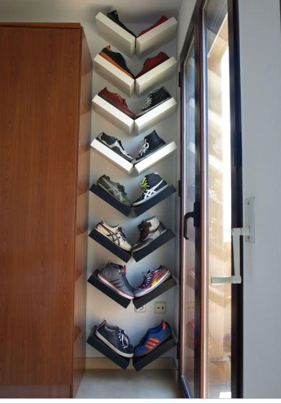 18 Diy Shoe Storage Ideas For Small Spaces | Pinterest | Shape