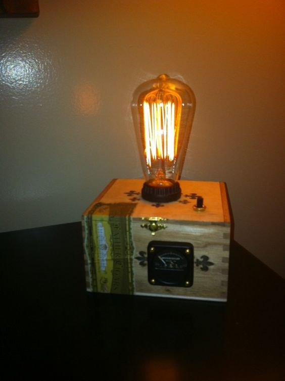 Reserved Cigar Box Lamp Steam Punk Reserved Lamps
