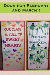 Classroom door ideas for Valentines day and St. Patricks ...