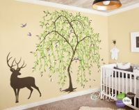 Large Baby nursery Willow Tree vinyl wall decal, Tree