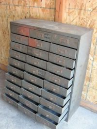 Vintage Industrial Metal Tool Cabinet Chest Storage Small ...