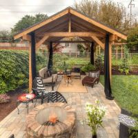 pavilion fire pit | Covered outdoor pavilion, covered ...