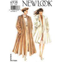 Swing Coat Pattern New Look 6938 Raglan Shawl Collar Lined ...