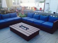 Pallet style outdoor platform sectional (variation) with ...