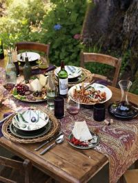 This table setting would be great for my next Tuscan ...