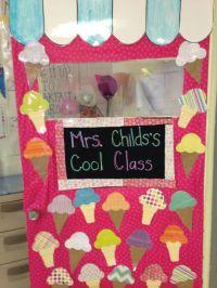 Ice cream theme classroom door   classroom   Pinterest ...