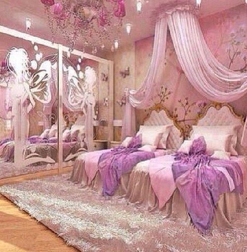 Pink, Room, And Bed Image | Kids Bedroom / Playroom | Pinterest