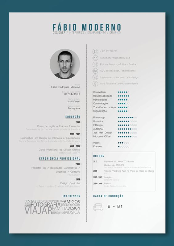 Great Resume Colors 7 Great Ways To Get Your Resume Noticed Hongkiat Curriculum Vitae By F225;bio Moderno Via Behance Print