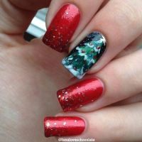 31 Christmas Nail Art Design Ideas | Red green, Christmas ...