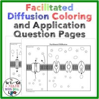 Cell Transport Facilitated Diffusion Coloring Page and ...