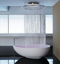 Free standing tub shower