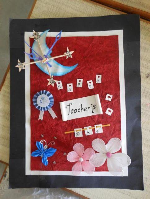 Teacher39s Day Invitation Card Handmade Cardsscrapbooks
