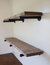 DIY Pipe Shelves: Inspired by restoration hardware | There ...
