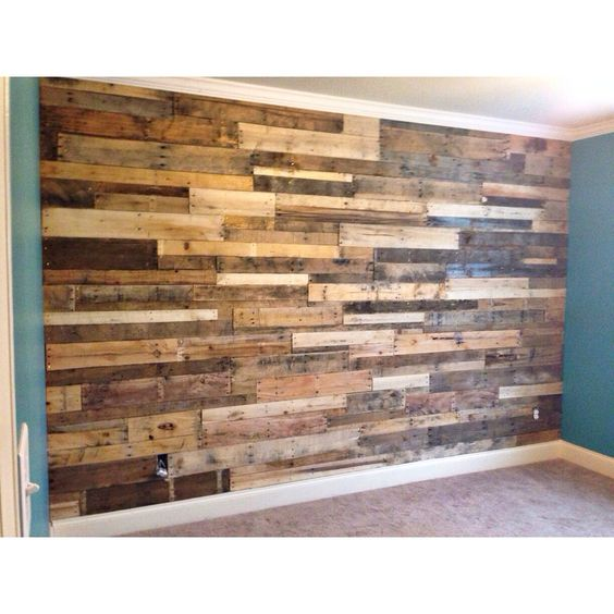 Pallet Accent Wall With Crown Molding | | Gavyn Mccart