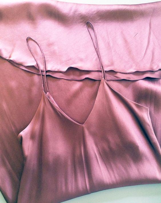 Vintage 1990s Plum Silk Slip Dress. 90s by havelovewilltravel: