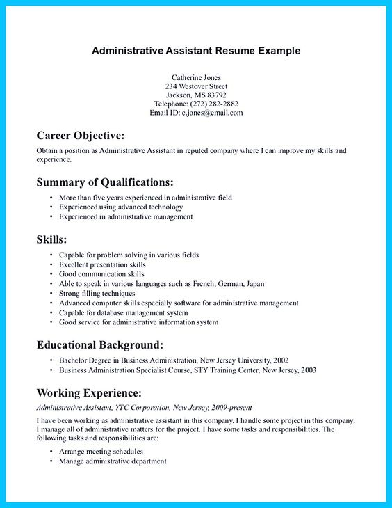 sample of resume for non profit executive assistant