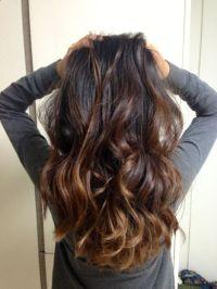 Subtle brown balayage on black hairs | brunette ...