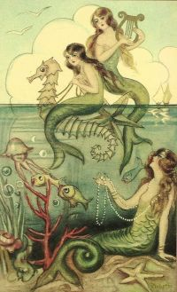 Vintage mermaid, Mermaids and Mermaid art on Pinterest
