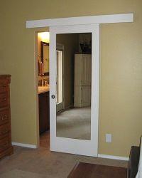 small bathroom door solution