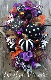 Halloween Swag, Halloween Wreath, Pumpkin Wreath, Fall ...
