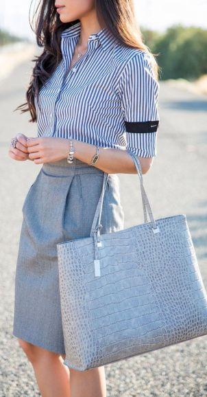 Pencil skirt and neutrals  cute cute cute!: