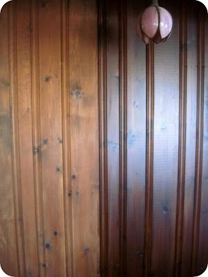 Staining Wood Paneling Without Sanding. Need This For The New
