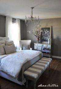grey white master bedroom - Decor It Darling, super cute ...