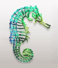 Seahorse Colored Metal Wall Art Black Cat Artworks ...