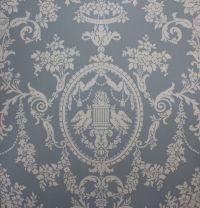 1920's Antique Vintage Wallpaper Victorian Blue Lovebirds ...