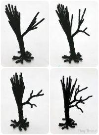 Spooky Pipe Cleaner Trees - Halloween Craft Tutorial ...