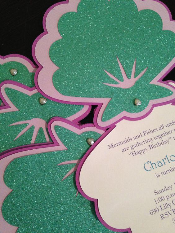 seashell invitation template