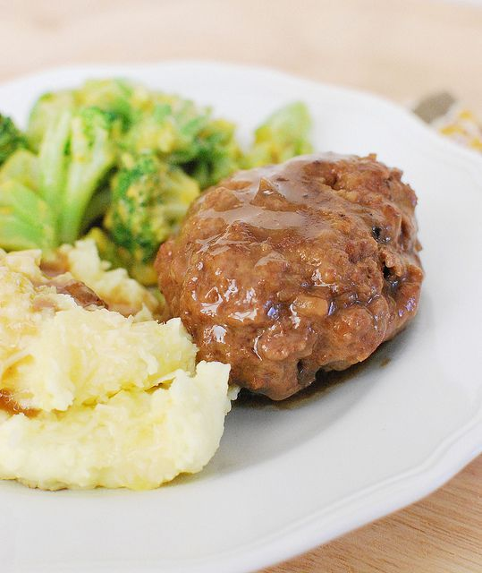 Slow Cooker Salisbury Steak | Recipe | Crockpot Salisbury Steak