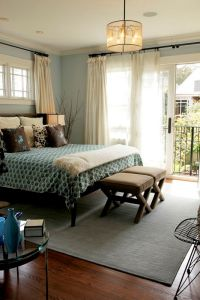 Taupe rug, Brown pillows and Light teal on Pinterest
