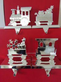 NIB Lenox Holiday Christmas Train Stocking Holders Silver ...