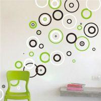 Rings Vinyl Wall Decals, Bedroom Shape Designs, Circle ...