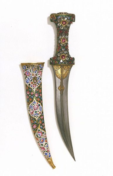 Gone Travelling Blog Dagger And Sheath 18th Century Iran Jewelled Gilt Blade
