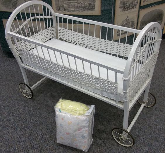 White Wicker Babies And Bassinet On Pinterest